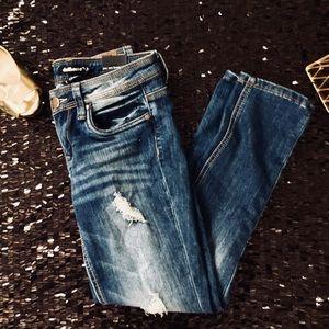 NWT- Dollhouse Distressed Skinny Jeans Sz. 7